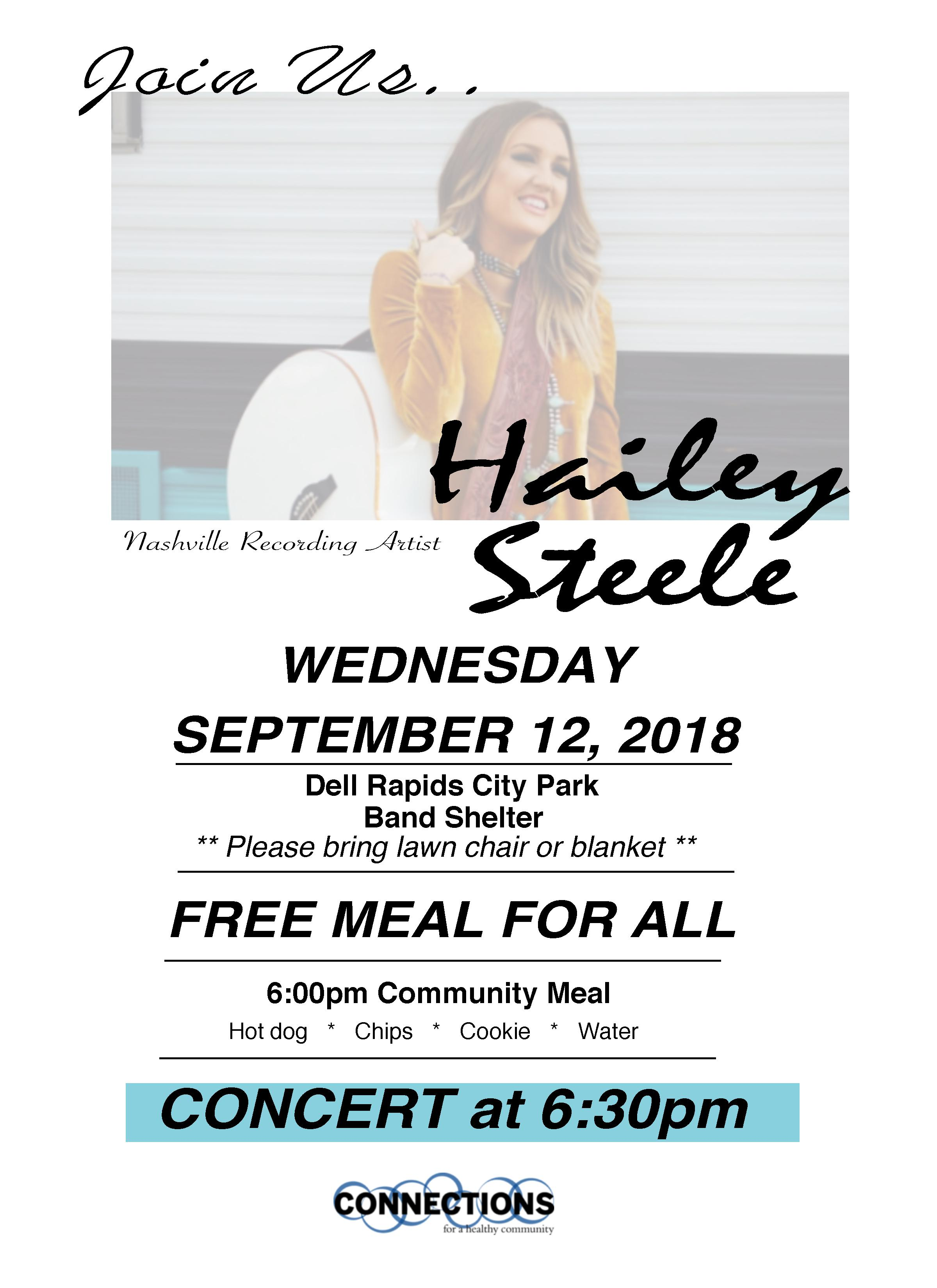 Hailey Steele concert Dell Rapids South Dakota 2018