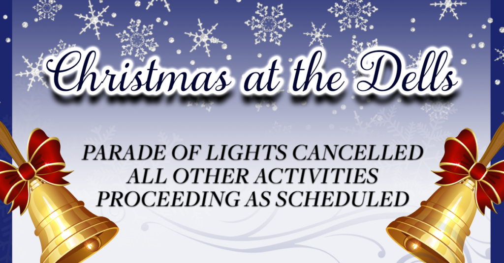 Parade of Lights cancelled Christmas at the Dells 2019 Dells Museum 407 E. 4th St. Dell Rapids SD Dell Rapids Chamber of Commerce