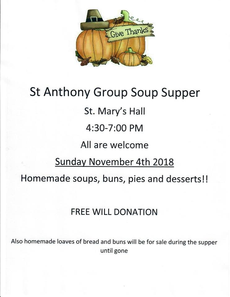 St. Anthony Soup Supper