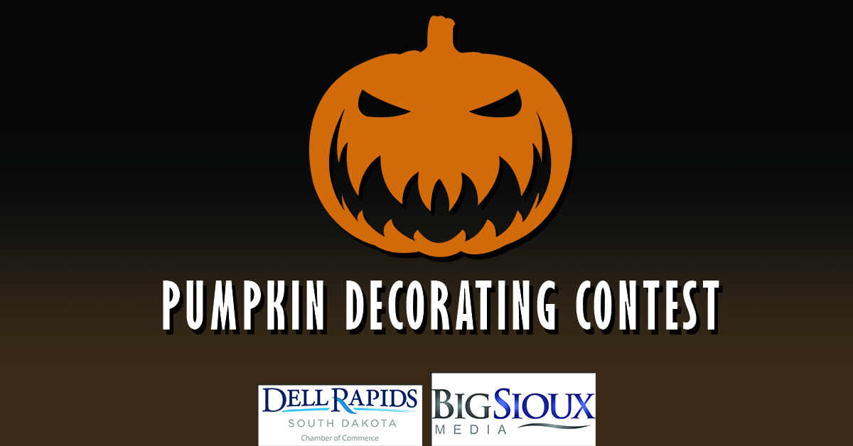 Pumpkin Decorating Contest 2018 Big Sioux Media and the Dell Rapids Chamebr of Commerce