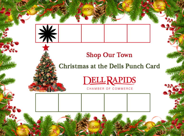 HOLIDAY PUNCH CARD 2018 one punch example Dell Rapids South Dakota Chamber of Commerce
