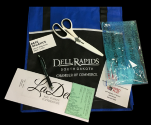 Picture of Welcome Packets given to new citizens of Dell Rapids South Dakota by the Dell Rapids Chamber of Commerce
