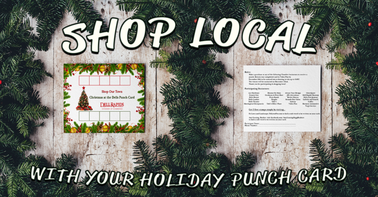 Holiday Punch Card Dell Rapids South Dakota Chamber of Commerce