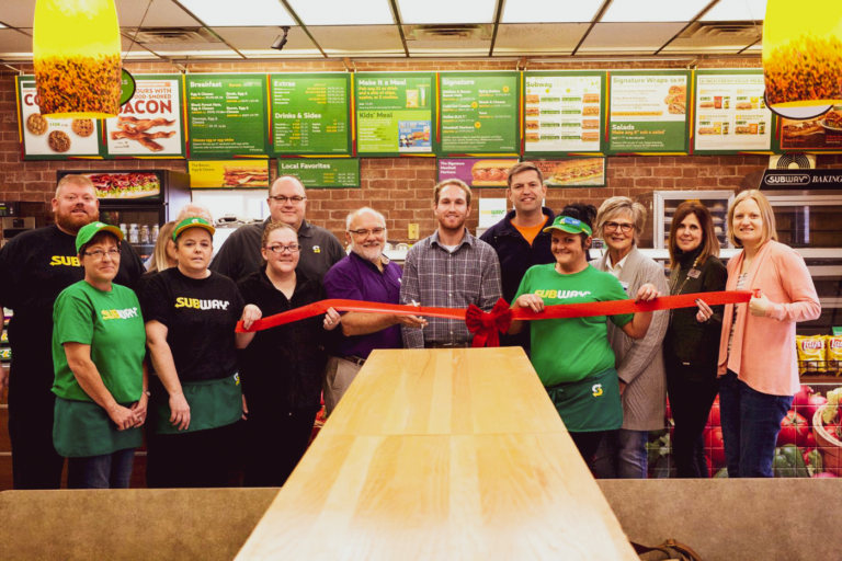 subway ribbon cutting Dell Rapids South Dakota 411 N. Highway 77 Dell Rapids Chamber of Commerce