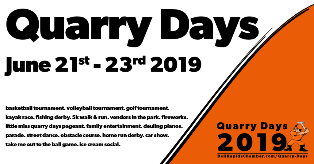 quarry days june 21-23 2019 Dell Rapids South Dakota Dell Rapids Chamber of Commerce