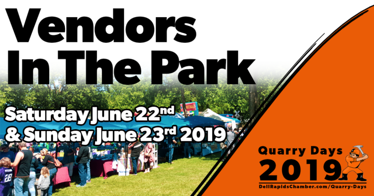 vendors in the park quarry days 2019 dell rapids south Dakota dell rapids chamber of commerce