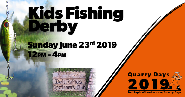 kids fishing derby quarry days 2019 dell rapids south Dakota dell rapids chamber of commerce